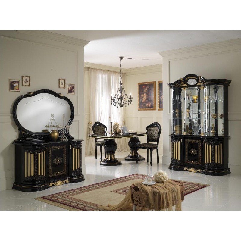 salle manger italienne 9 pi ces panel meuble magasin de meubles en ligne. Black Bedroom Furniture Sets. Home Design Ideas