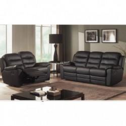 Salon confort classique avec relax panel meuble - Canape cuir avec relax electrique ...