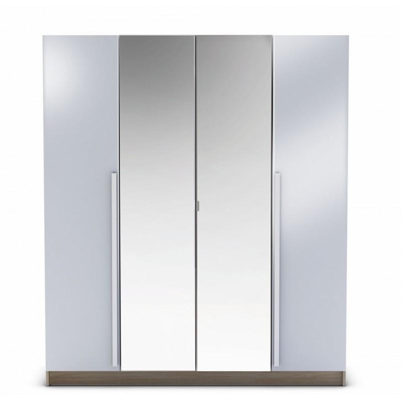 Armoire Penderie-rangement moderne 4 portes - Panel Meuble - Magasin ...