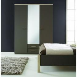 Armoire à Glace Penderie-rangement moderne 3 portes