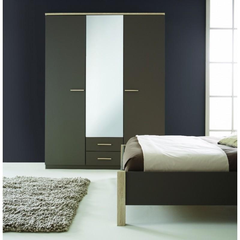 Armoire A Glace Chambre : Armoire à glace penderie rangement moderne portes
