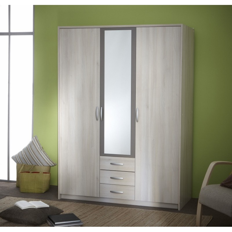 armoire glace penderie rangement moderne 3 portes panel meuble magasin de meubles en ligne. Black Bedroom Furniture Sets. Home Design Ideas