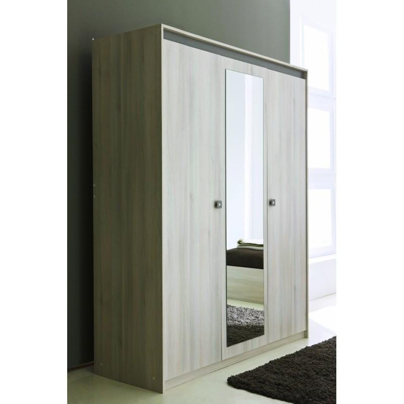 armoire glace penderie rangement moderne 3 portes panel meuble magasin de meubles en ligne. Black Bedroom Furniture Sets. Home Design Ideas