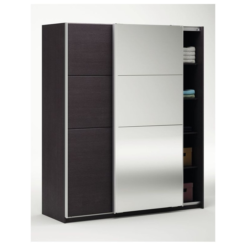 armoire 2 portes coulissante moderne panel meuble magasin de meubles en ligne. Black Bedroom Furniture Sets. Home Design Ideas