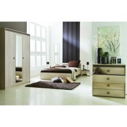 Chambre coucher compl te m lamin adulte panel meuble for Acheter chambre a coucher complete