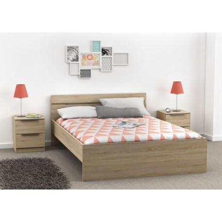 lit adulte moderne m lamin panel meuble magasin de meubles en ligne. Black Bedroom Furniture Sets. Home Design Ideas