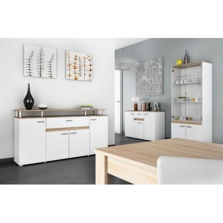 Salle manger compl te 6 pi ces copie panel meuble magasin de meubles en - Mobilier de salle a manger moderne ...