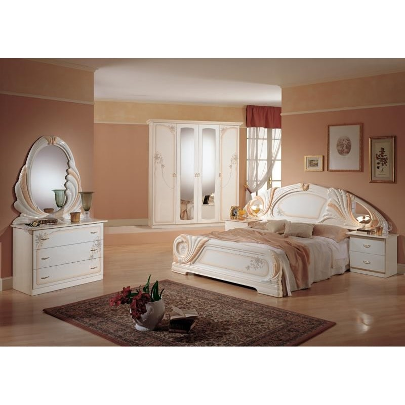 Chambre coucher compl te panel meuble magasin de for Chambre complete adulte solde