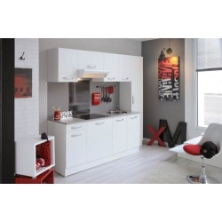 Cuisine quip e moderne blanche 1er prix panel meuble for Prix pour une cuisine equipee