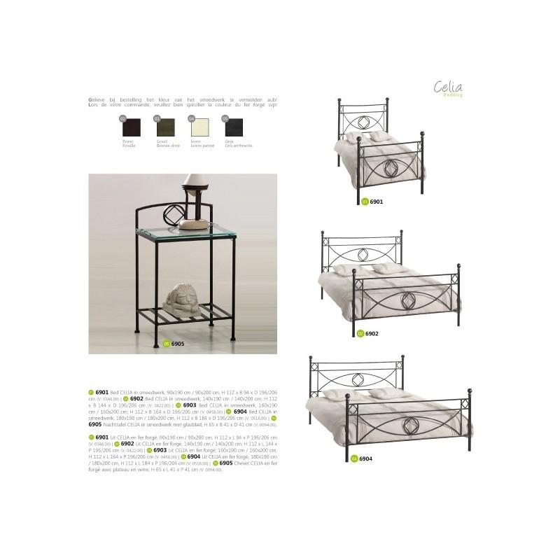 Lit fer forg massif panel meuble magasin de meubles for Chambre a coucher moderne en fer forge