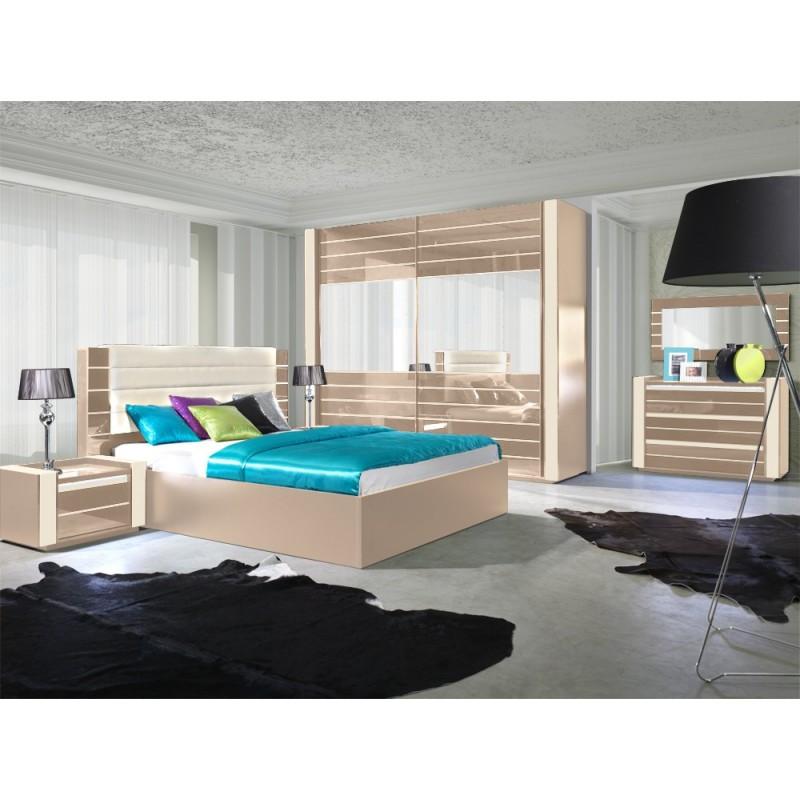Salle De Bains Luxembourg : Chambre à coucher 3 pièces Lynn Praline  Panel Meuble