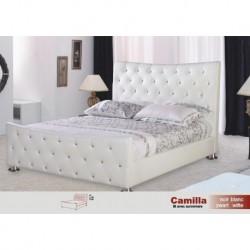 Lit Camilla Pvc Blanc ou Noir 140/200