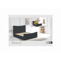 Lit Camilla Pvc Noir ou Blanc 160/200