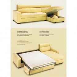 Canape d'angle avec lit