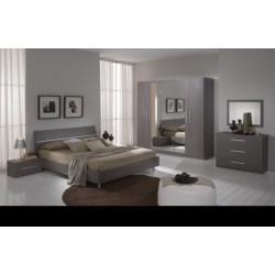 Chambre à coucher 6 pièces complète mélaminée