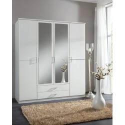 Armoire 4 portes 2 miroirs