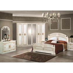 Chambre coucher italienne baroque panel meuble for Chambre a coucher complete italienne