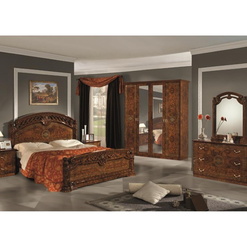 chambre coucher compl te italo orientale panel meuble. Black Bedroom Furniture Sets. Home Design Ideas