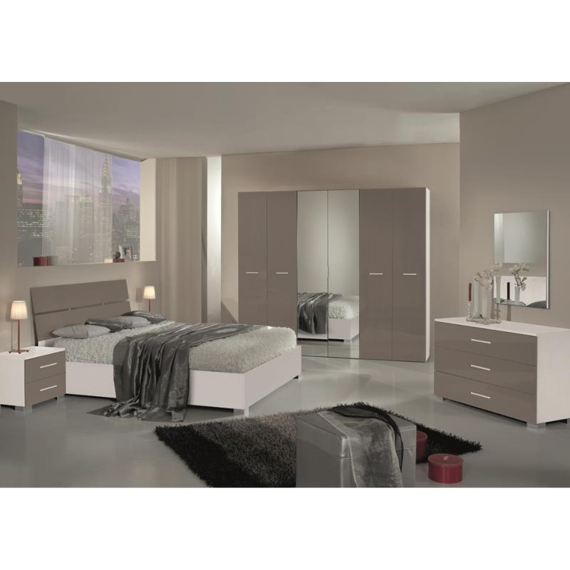 chambre coucher compl te design moderne panel meuble. Black Bedroom Furniture Sets. Home Design Ideas