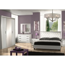 Chambre coucher design adulte panel meuble magasin for Chambre complete moderne