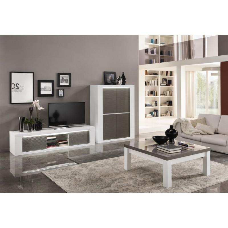 Salle manger laqu e compl te panel meuble magasin de for Meuble de salle a manger complete
