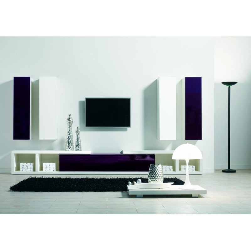 Ensemble meuble tv mural design panel meuble magasin de meubles en ligne - Ensemble tv mural design ...