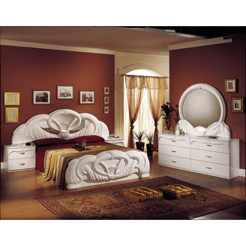 Chambre coucher italienne baroque panel meuble magasin de meubles en ligne - Chambre a coucher magasin ...