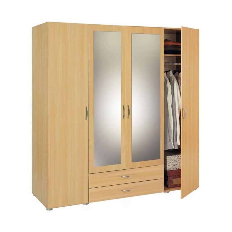 Armoire Penderie-rangement moderne 4 portes - Panel Meuble - Magasin de meubles en ligne
