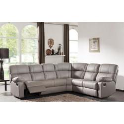 Canapé d'angle 6pl Tissu avec 2 relax