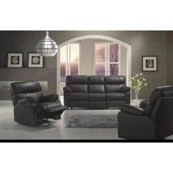 Canapé 2 places classique demi cuir