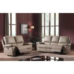 Canapé 3 places classique tissu avec 1relax electr