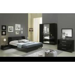 Chambre à coucher complète brillante 5pièces